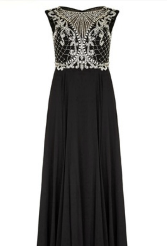 Romana Black or Silver Long Dress Hire in UK - Must Have Dresses