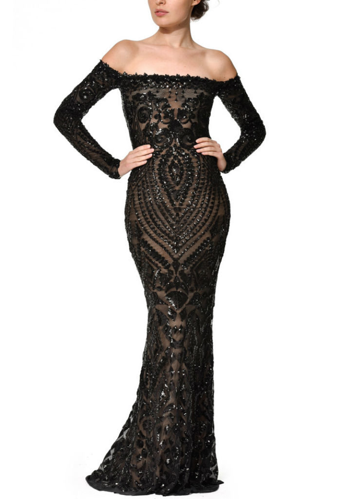 Arabella Black Tie Dress at £70.00 - musthavedresses.com