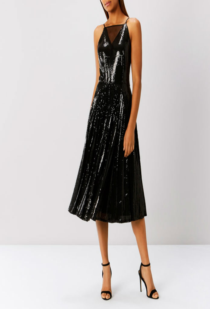 Vivianna Pleated Sequin Black Dress at musthavedresses.com in UK.